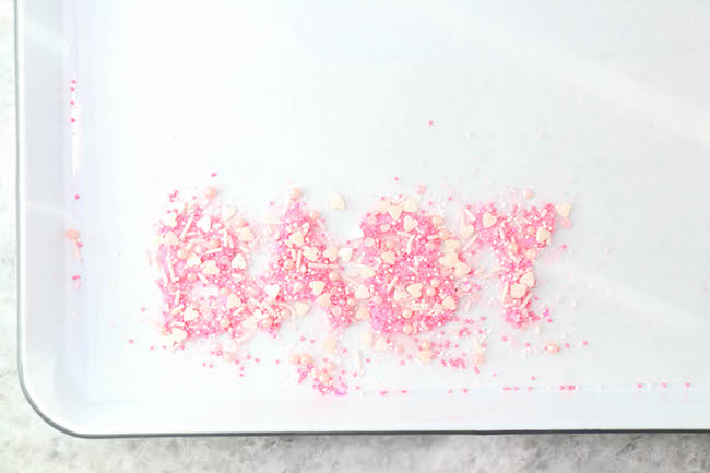 Finished Sprinkle Letters | Erin Gardner | Craftsy