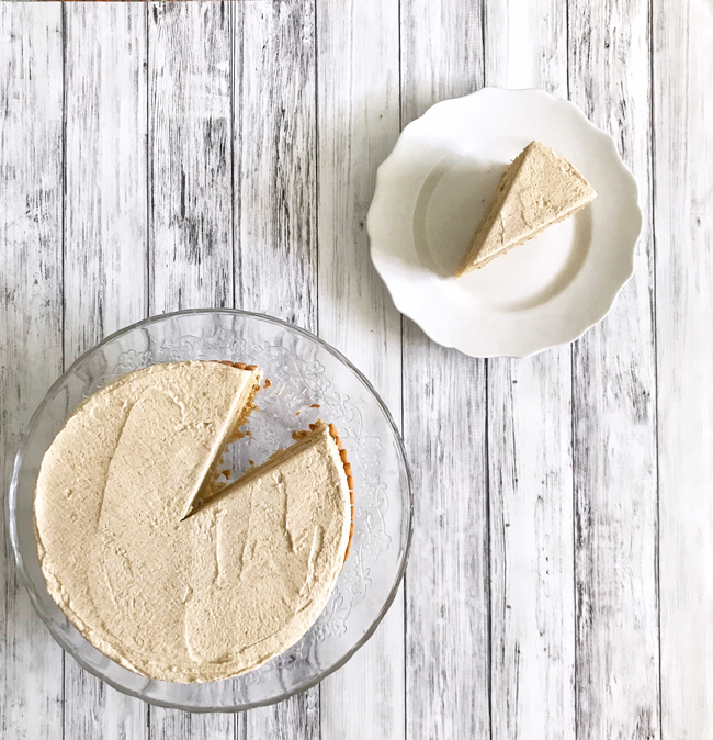 slice of butterscotch cake