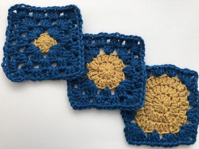 circles in crochet granny squares