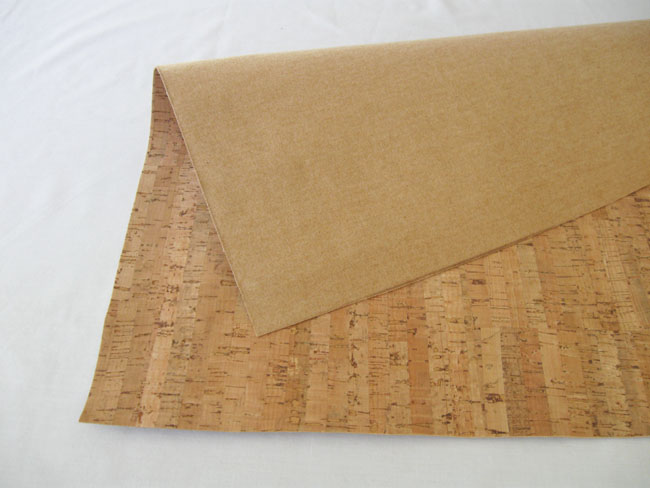 cork fabric before cutting