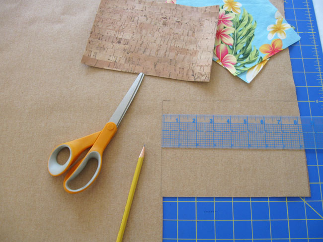 cutting cork fabric with scissors or rotary