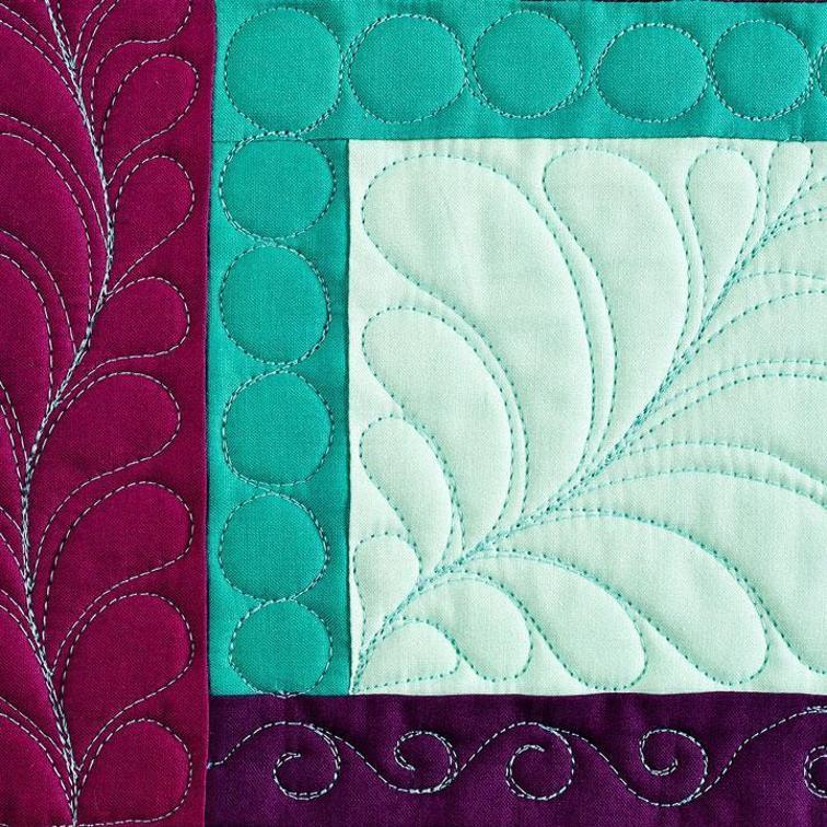 Feathers, Pebbles & Spirals via Craftsy instructor Christina Camelia
