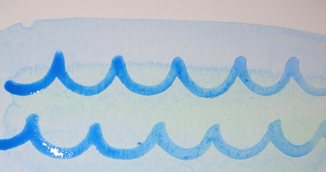 Scalloped lines for waves