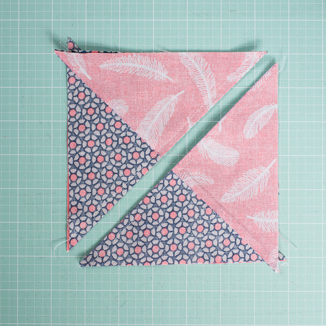 sew quarter square triangles