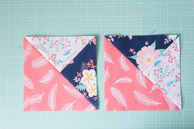 sew quarter square triangles