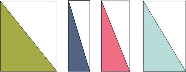half-triangle rectangle