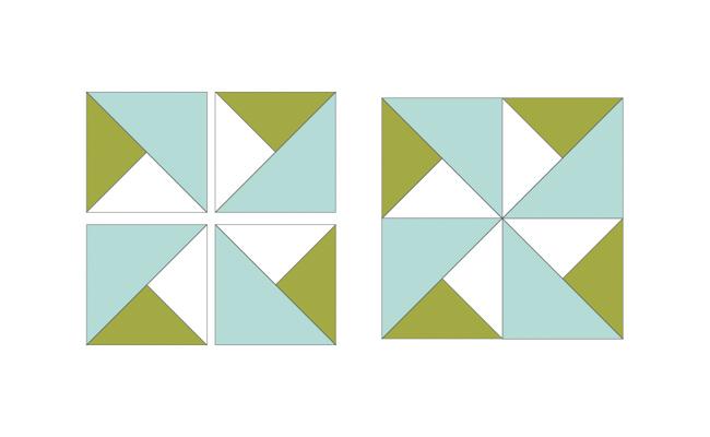 quarter-square triangles