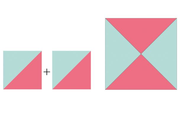 quarter-square triangles