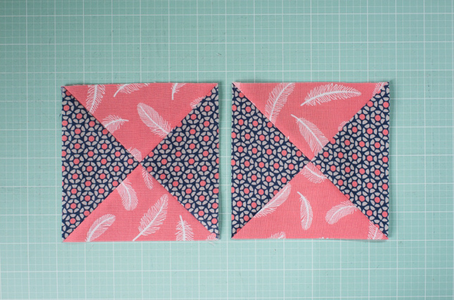 Finished Quarter Square Triangles