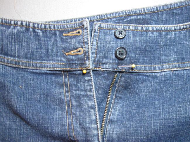 reattach waistband ends