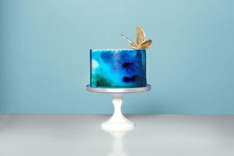 Tie dye watercolor cake idea