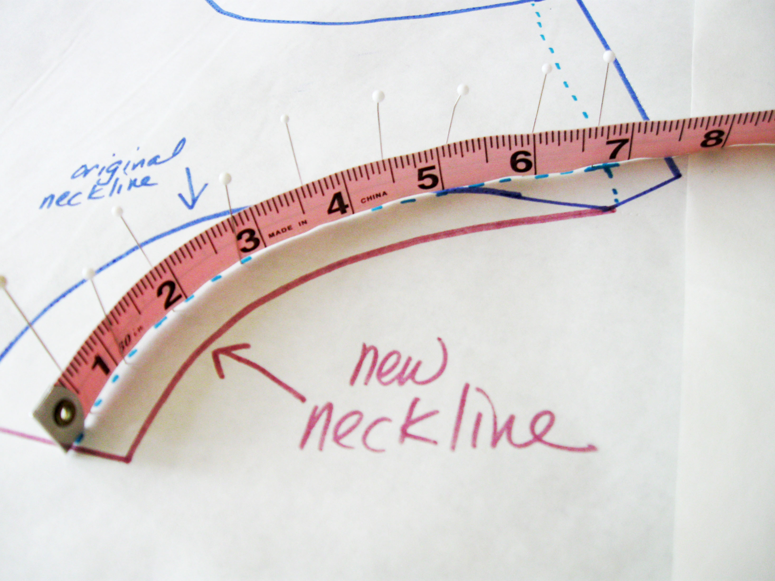 turn measureing tape on side to measure