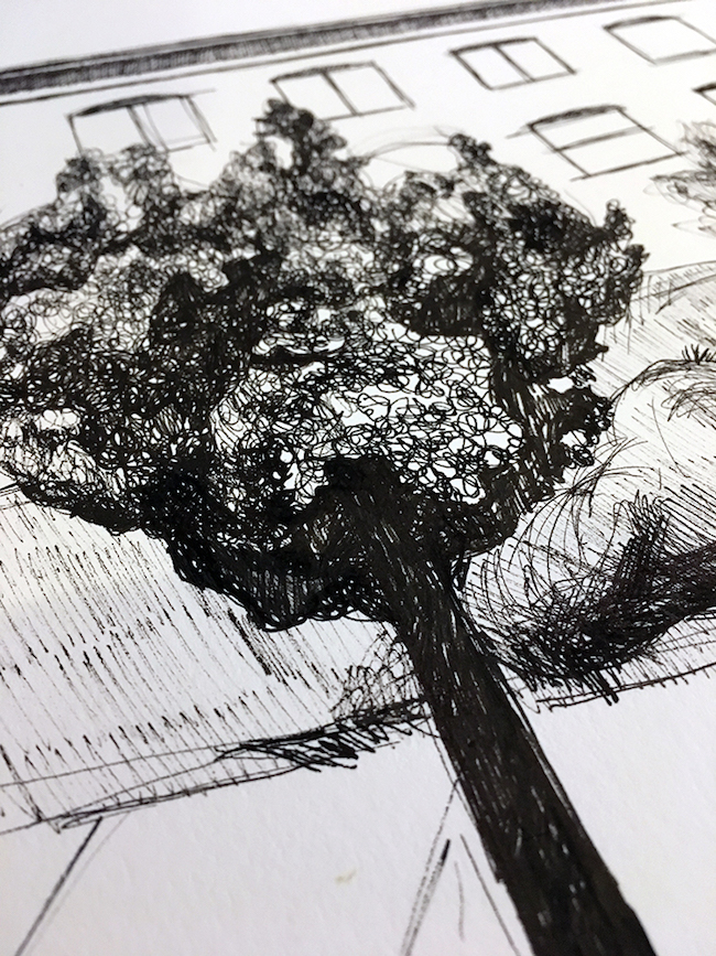 How to draw trees in urban sketching