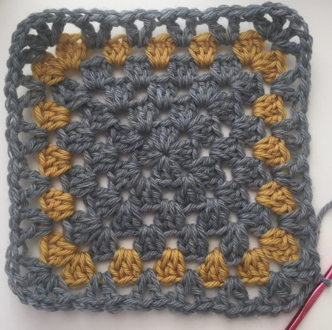 v-stitch edging for granny square