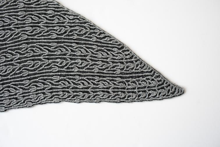 Modern Brioche Lace Shawl