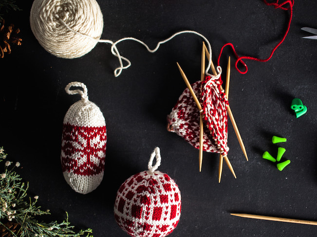 Fair Isle Holiday Ornaments