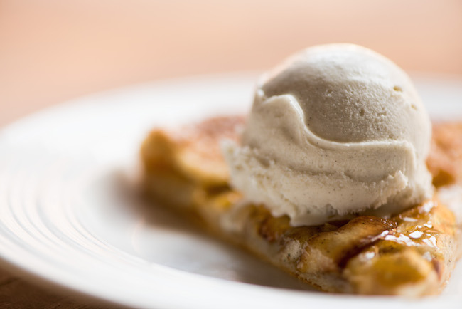 Slice of Apple Galette with Scoop of Ice Cream
