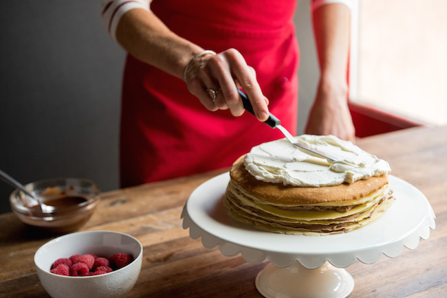 Frosting on Crepe Cake