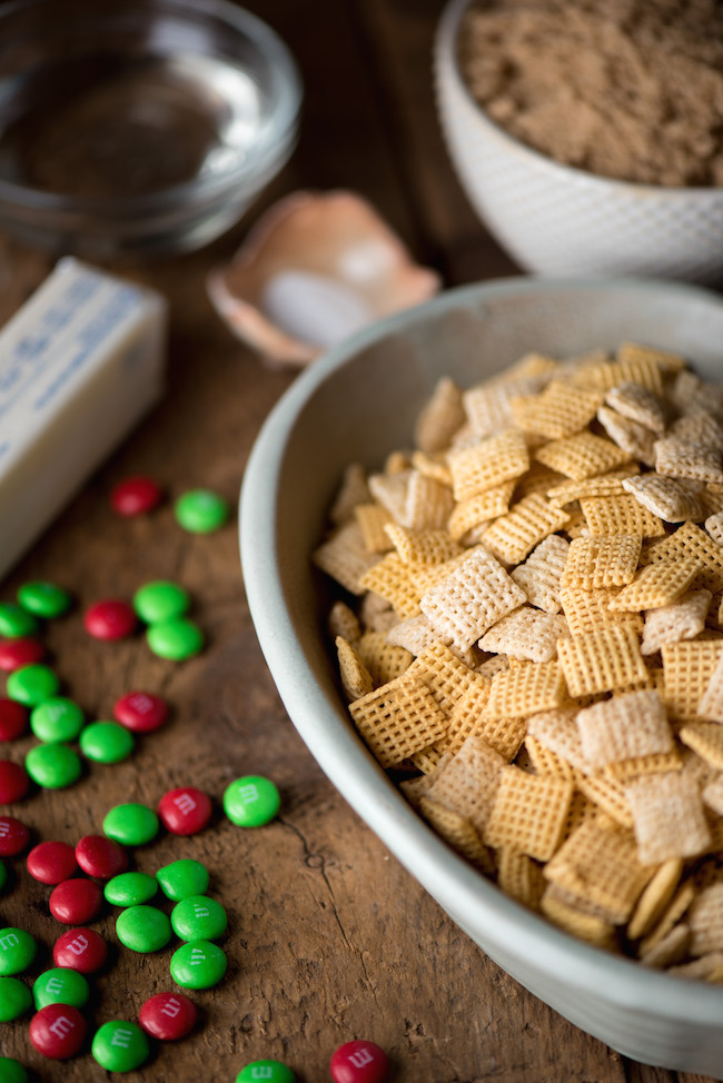 Ingredients for Caramel Christmas Mix
