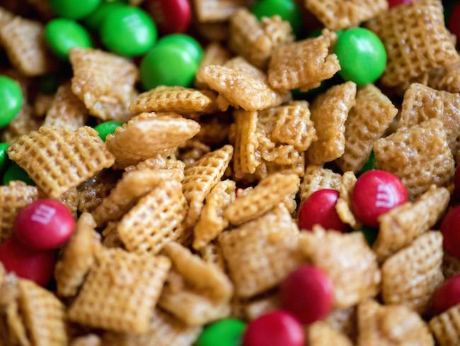 Close Up of Christmas Caramel Mix
