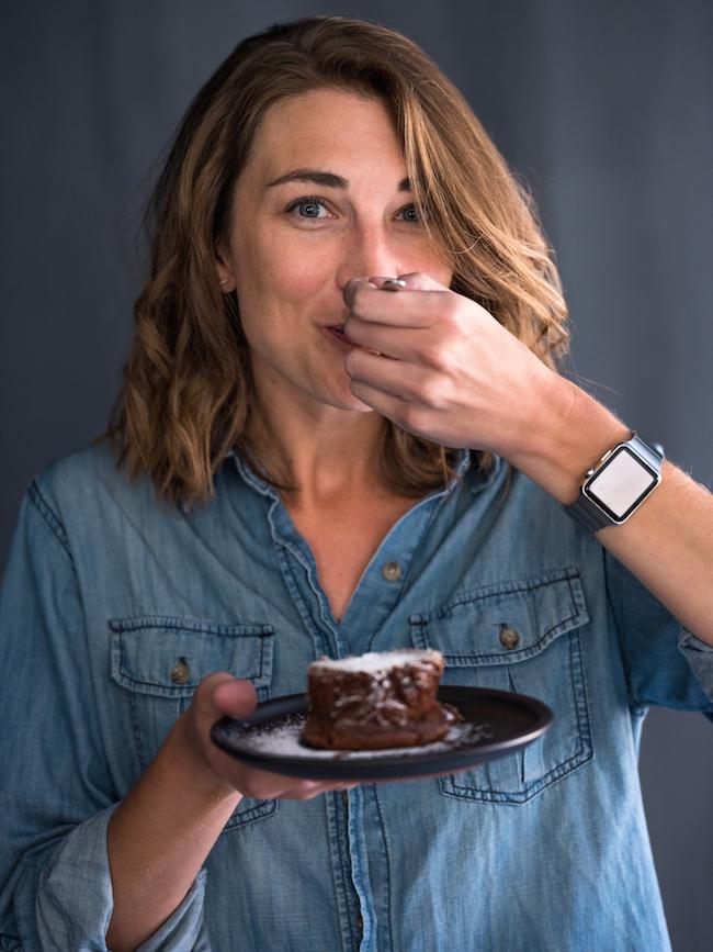 Jenny Eating Chocolate Cake