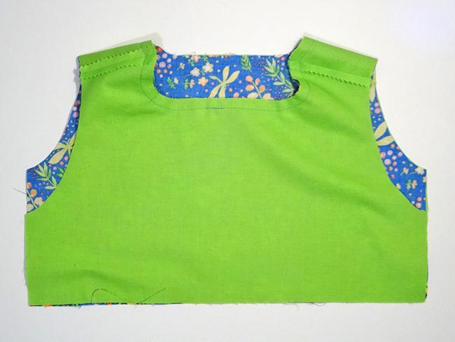 Stitch bodice neckline
