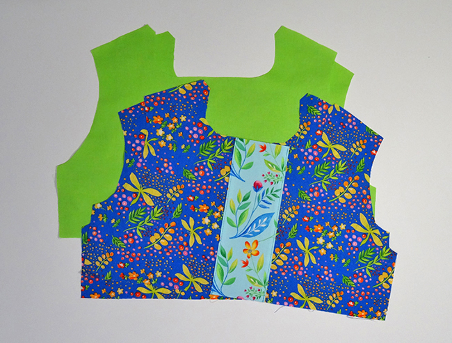 Bodice with Inset and Lining