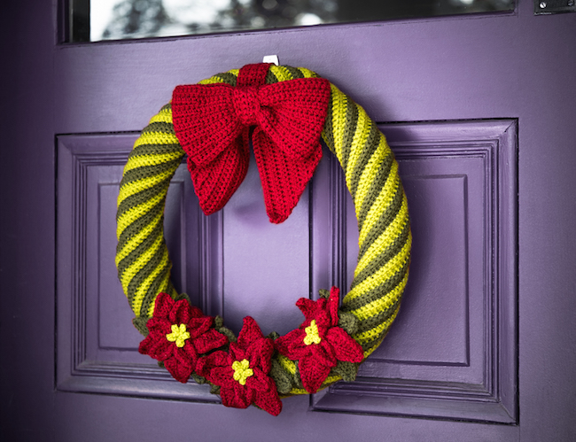 Poinsettia Wreath Crochet Kit