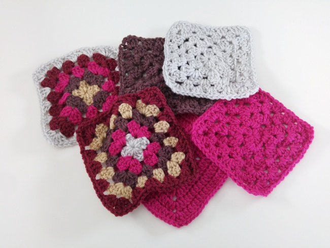 How to block granny squares pre blocked squares
