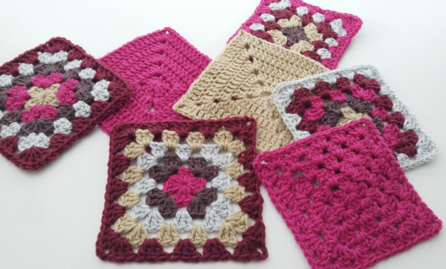 How to block granny squares squares after blocking