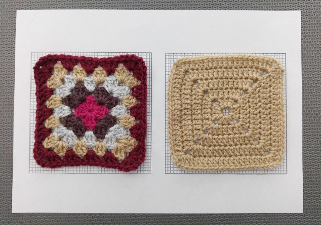 How to block granny squares squares on grid