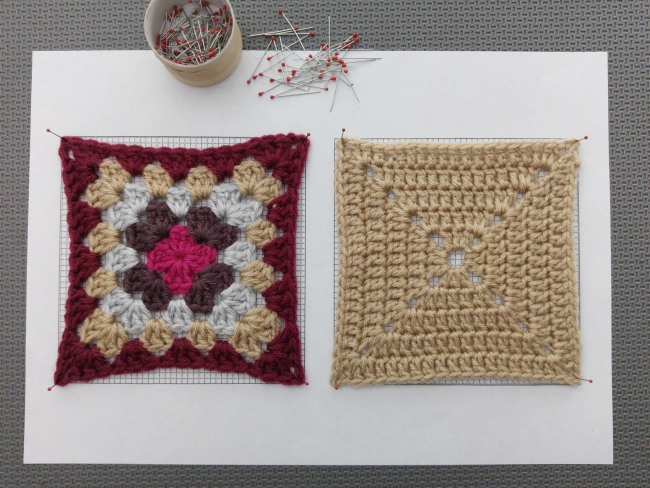 How to block granny squares squares pin corners first