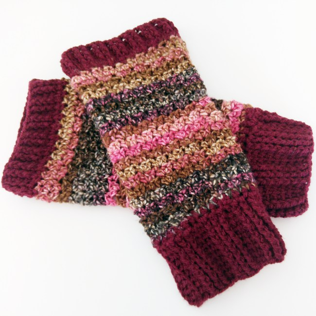 How to crochet leg warmers finished pair 2