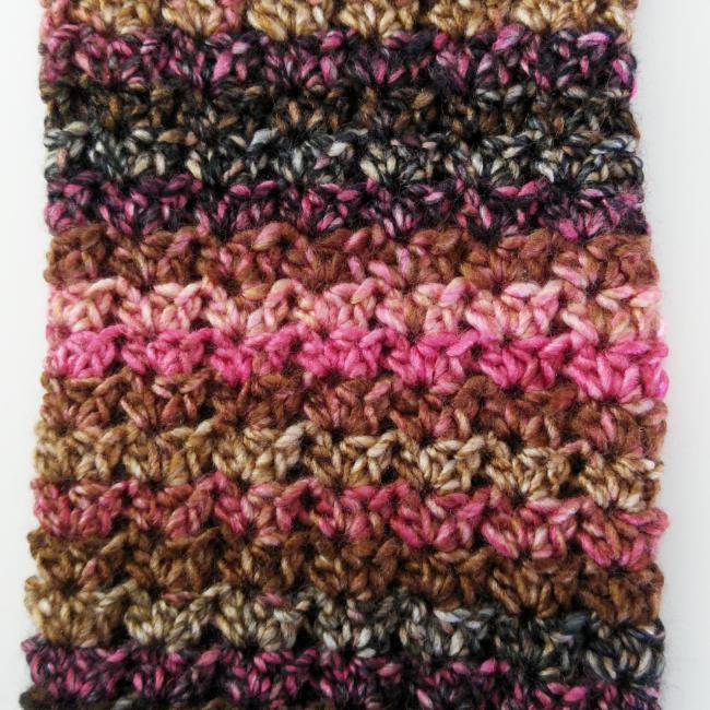How to crochet leg warmers main stitch pattern