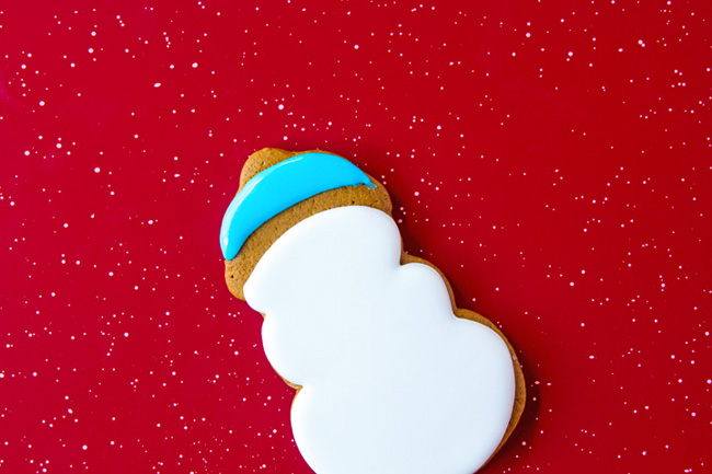 Simple Little Snowmen Cookies