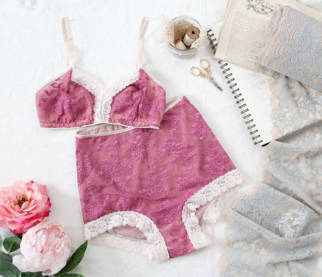 How to sew stretch lace lingerie