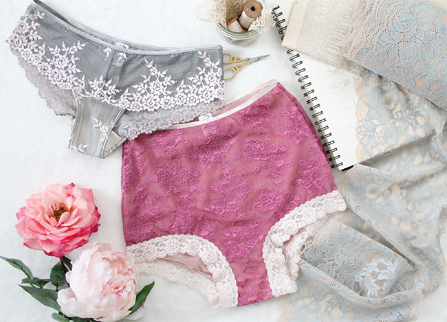 Sewing lace lingerie