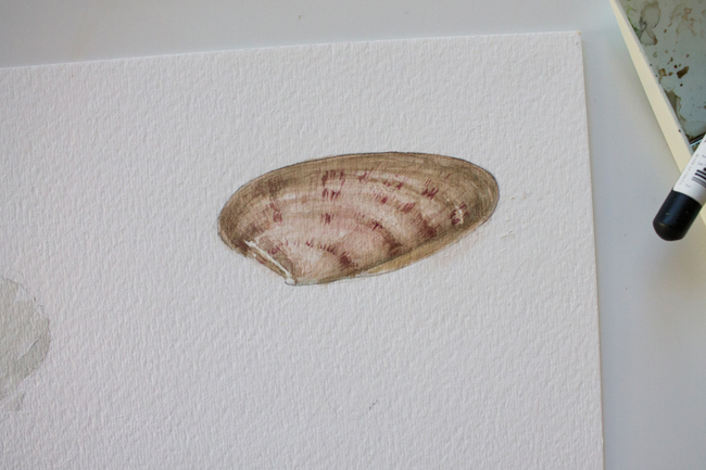 Sea shell painting finished