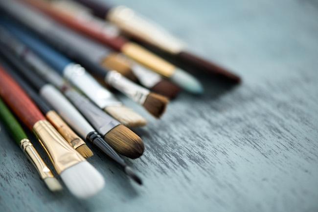 Assortment of Acrylic Paint Brushes