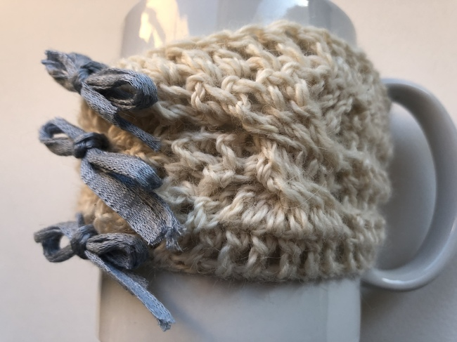 cable crochet cup cozy free pattern