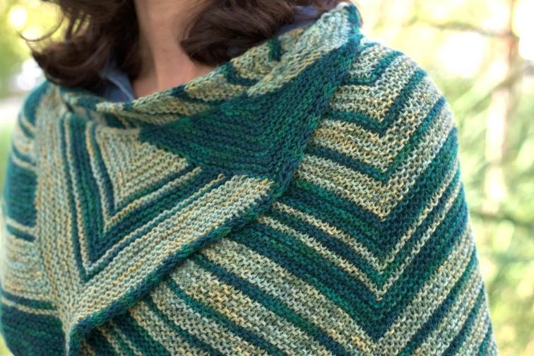Center-Increase Triangle Shawl