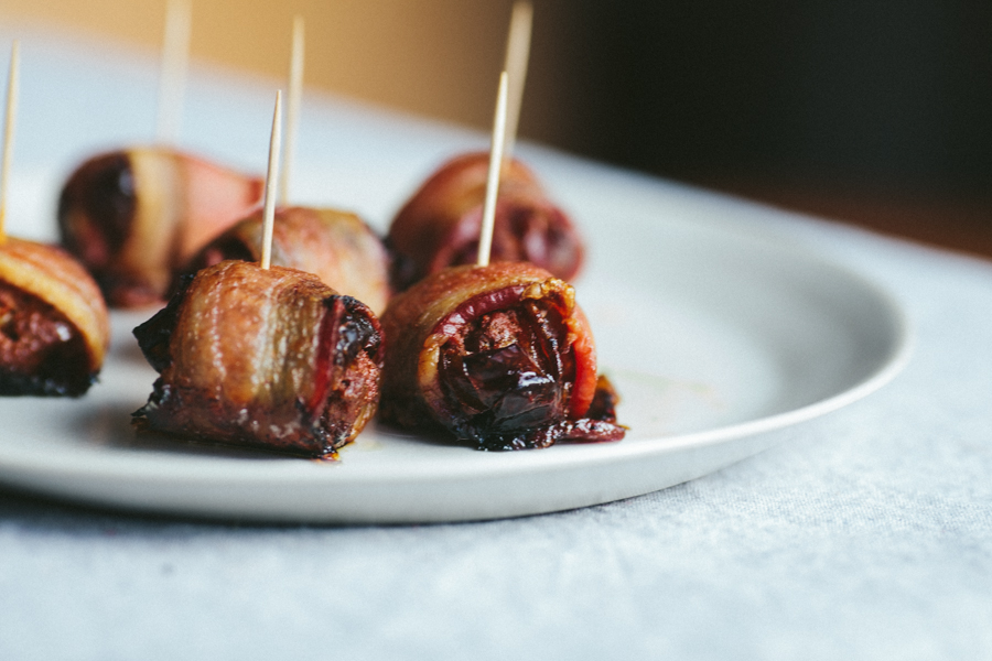 Quick Appetizers Bacon Wrapped Dates