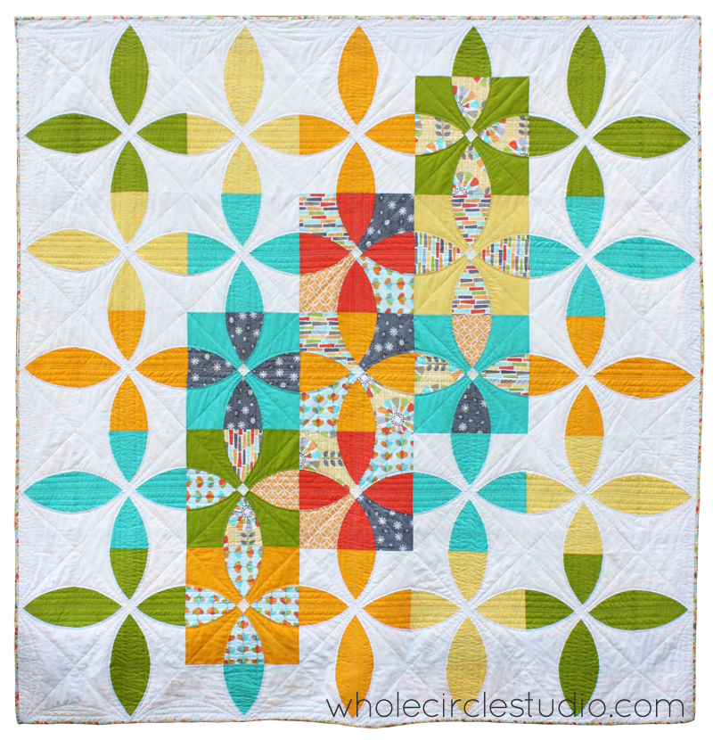 Picnic Petals quilt designed by Sheri Cifaldi-Morrill. Pattern available at shop.wholecirclestudio.com