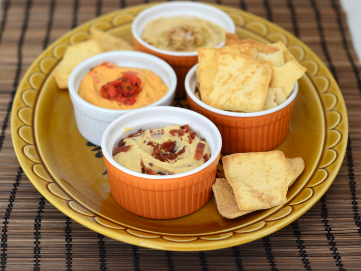 Quick Appetizers Pita Chips and Hummus