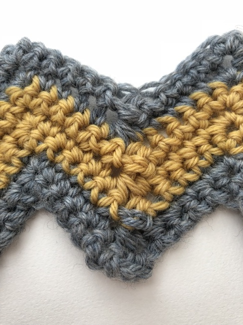 chevron crochet detail