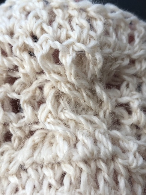 detail of crochet cable