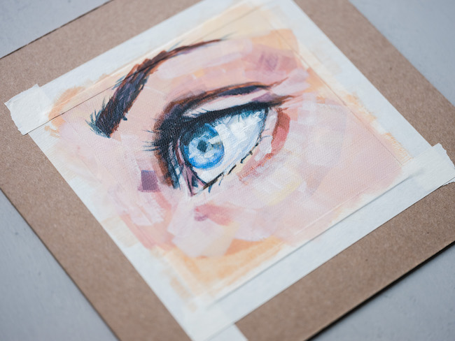 Detailed Painting of an Eye Made With Acrylics