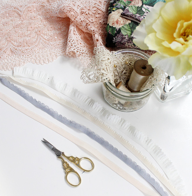 Different types of picot lingerie elastic