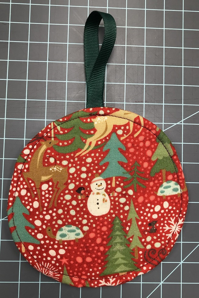 finished gift card ornament