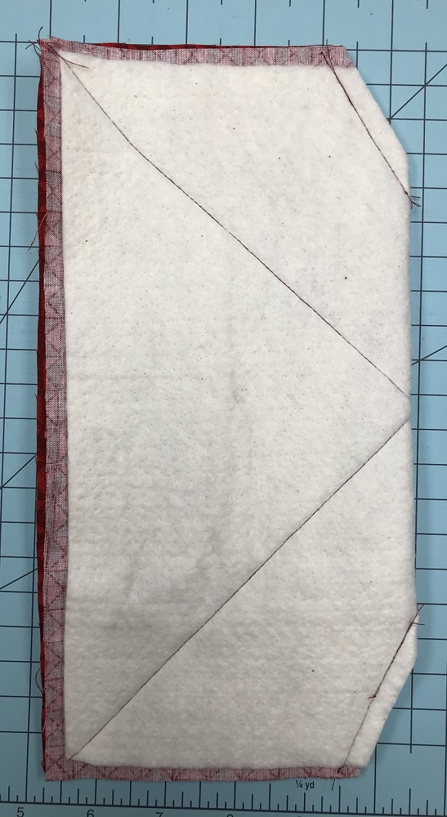 fold sew and trim the corners